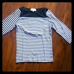 Black and white stripes shirt